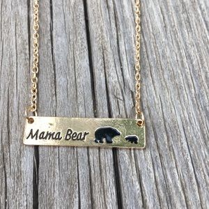 Jewelry - SALE Gold toned mama bear and 1 cub necklace